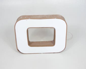 VINTAGE WALL Letter O //Neon Interior Mid Century Decor // Minimalist Wall Design // Wall Decoration