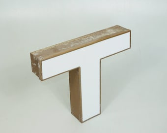 NEON VINTAGE WALL Letter T // Interior Mid Century Decor // Minimalist Wall Design