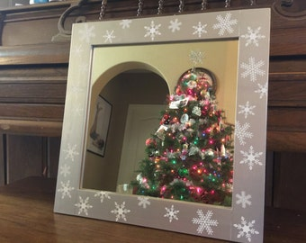Christmas Mirror, Spring, Summer, Fall, Winter Mirror - Changing Seasons Mirror - Seasonal Mirror
