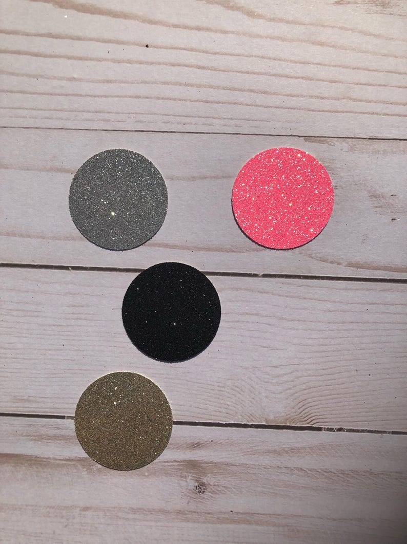Circle Die Cuts Party Cut Outs Polka Dot Party Confetti any color Birthday Cut Outs Glitter Polka Dots Die Cut