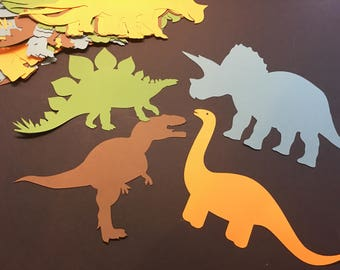 On SALE! Large Dinosaur Die Cut Outs From Card Stock, Jurrasic Party Cut Outs, Birthday Cut Outs, Party Cut Outs, Confetti