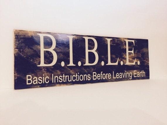 Religious Spiritual Christian Sign Bible Basic Etsy