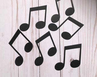 On SALE! Music Notes Die Cut Outs From Card Stock, Party Cut Outs, Birthday Cut Outs, Party Cut Outs, Confetti, Hollywood die cuts
