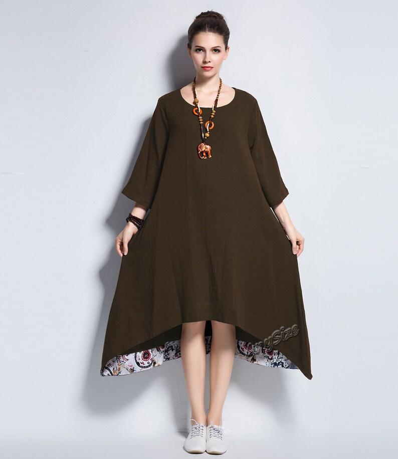 3946997976f Anysize A-line soft cotton dress plus size dress plus size | Etsy
