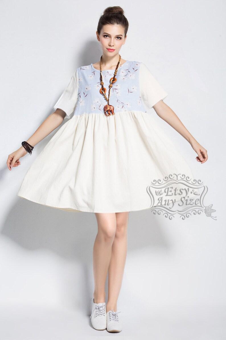 a1156a6cefe0 Anysize linen & cotton dress plus size dress plus size tops | Etsy