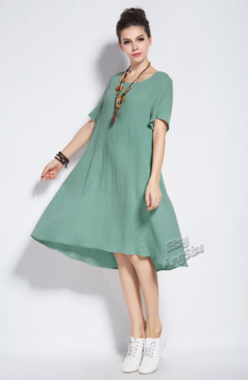 969160de20b Anysize linen&cotton Summer Dress plus size dress plus size | Etsy