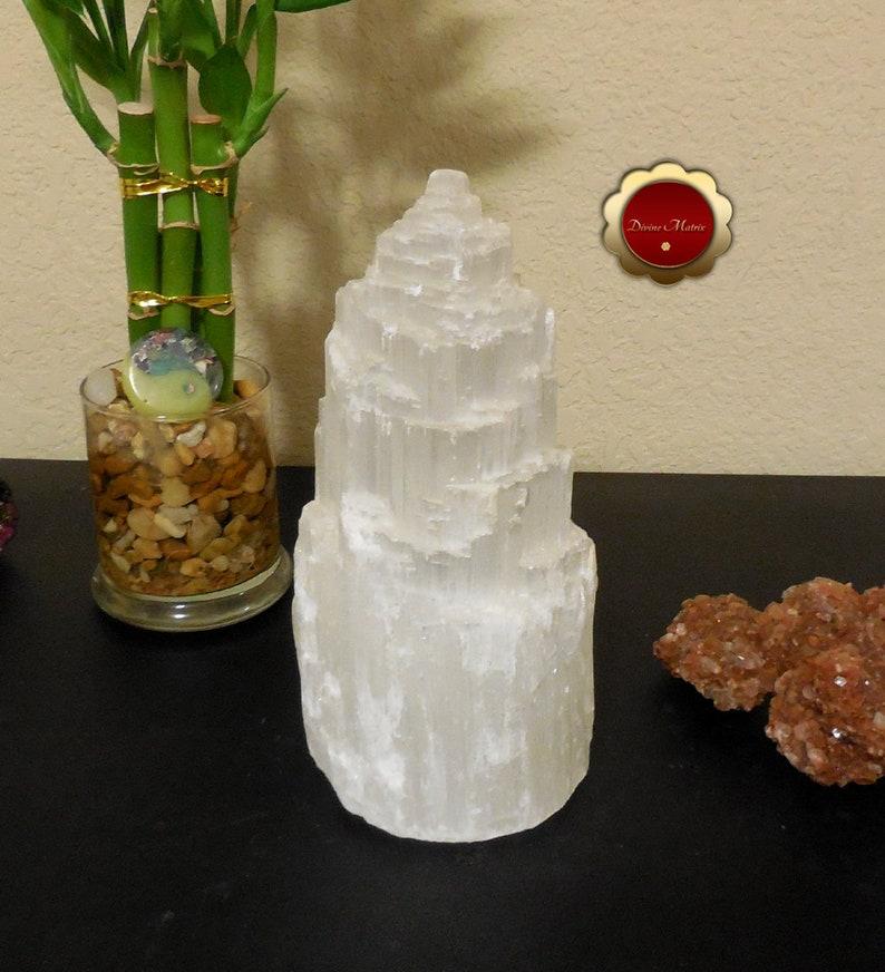 Large 8 Selenite Tower Iceberg Selenite Selenite Lamp image 0