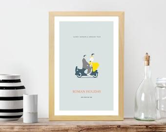 Roman Holiday Movie Poster- Minimalist, Roman Holiday Print