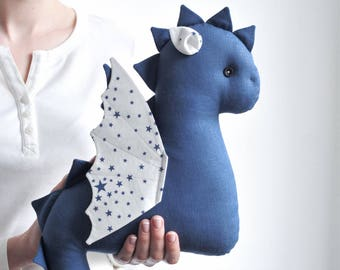 Baby Dragon Toy - Stuffed Dragon Toy - Gift for kids - Stuffed Toy - Blue Dragon Baby Gift - Birthday Gift - Baby Shower Gift