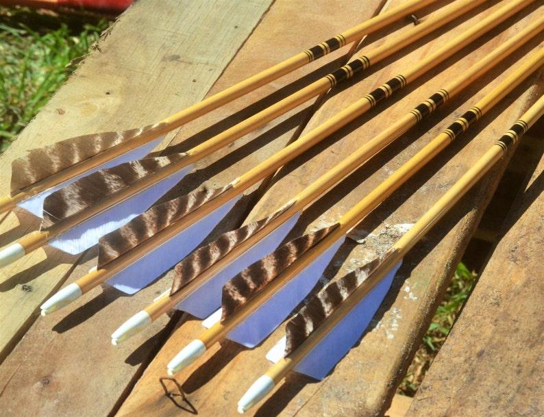 Archery arrows Traditional Port Orford cedar arrows black image 0