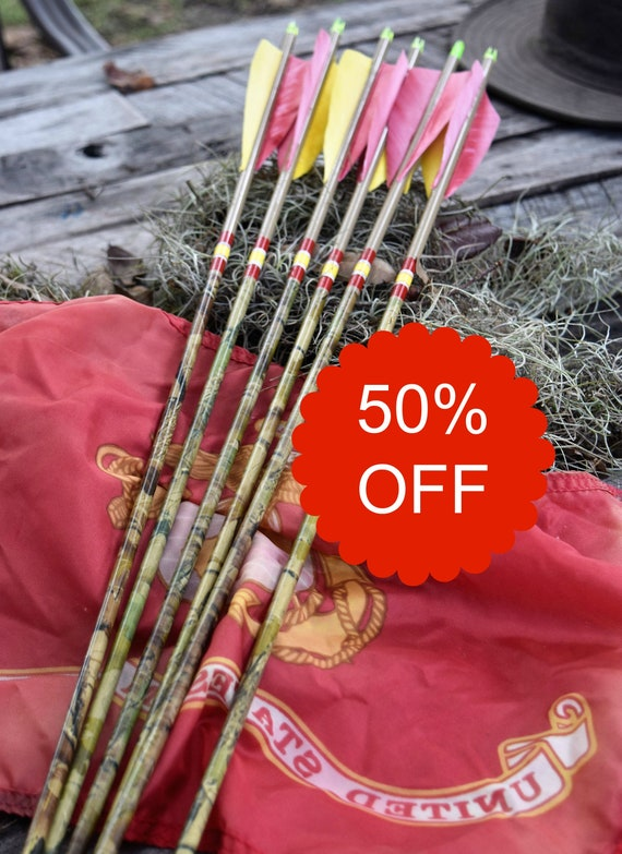 Archery arrows, carbon arrows, National Defense medal, set of 6