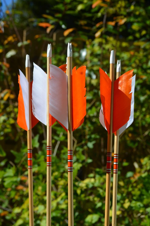 Archery Flu Flu arrows,wood arrows, small game hunting arrows