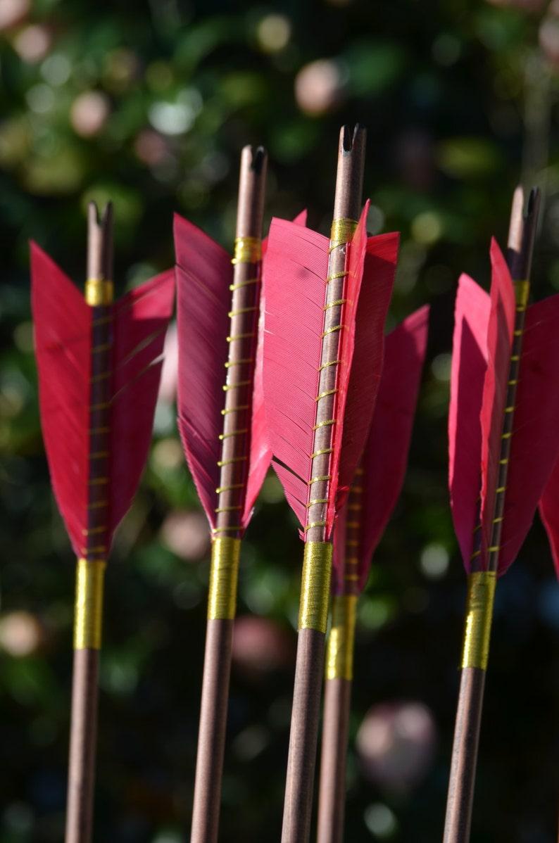 Archery Arrows Medieval style wood arrows set of 6 self image 0