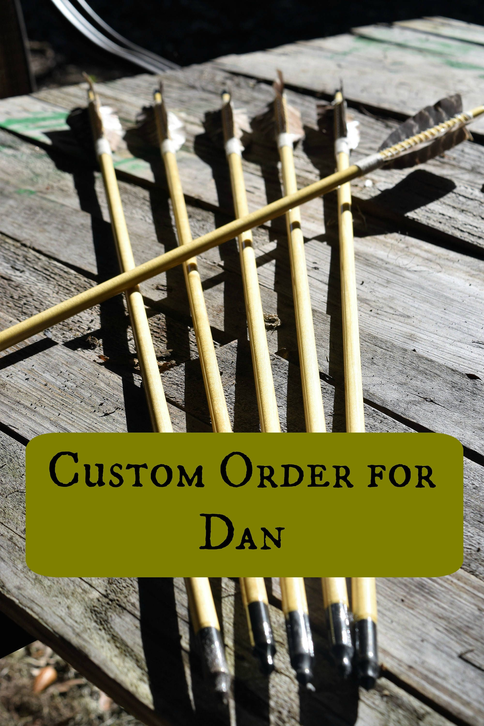Custom Order For Dan Archery Arrows Medieval Style Set