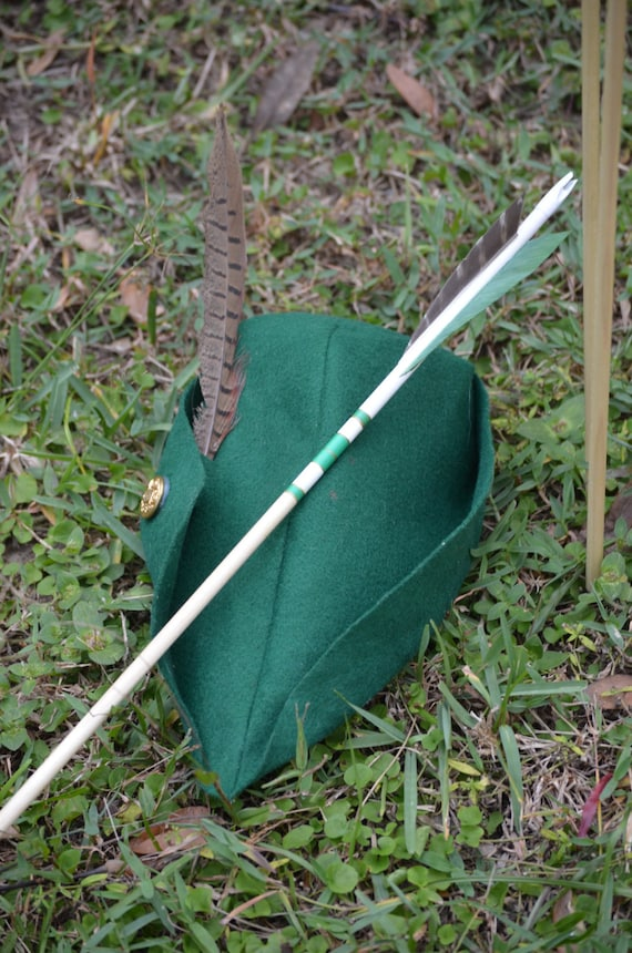 Archery Arrows, Junior archers, Poplar shafts set of 6 green and gold for kids