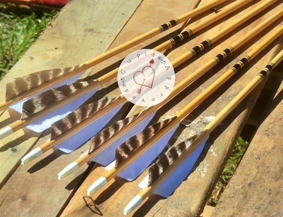 Archery arrows, Traditional wood arrows, black cresting