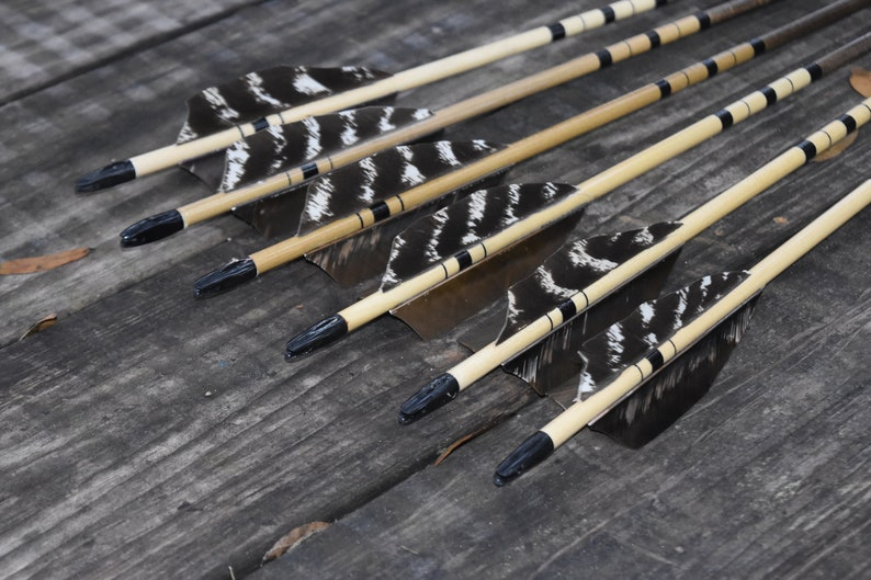 Archery arrows Port orford cedar arrows Black and brown image 0