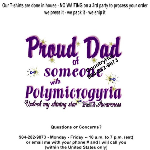 T shirt polymicrogyria pmg awareness proud dad etsy image 0 m4hsunfo