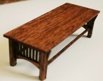 Stickley Style Coffee Table  Kit - Quarter Inch Scale