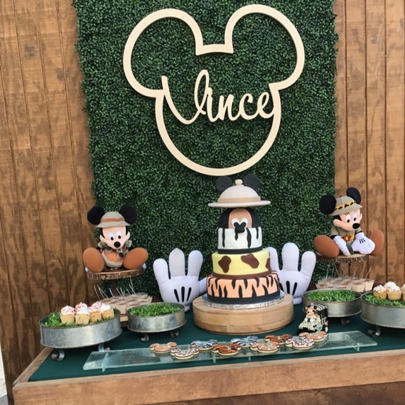 Mickey Backdrop Mouse Birthday Party Photo Dessert