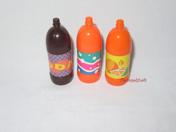 Vintage Mattel 3 Miniature 2 Liter Soda Bottles Barbie And Etsy