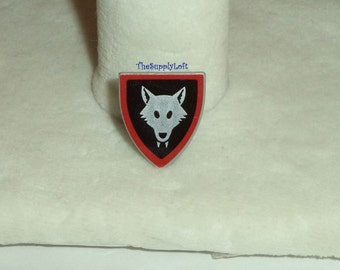 Vintage Lego Wolf Shield from 1993 Lego Minifigures Castle Knights Series Sets - Collectible or for Customization OOAK Repaint