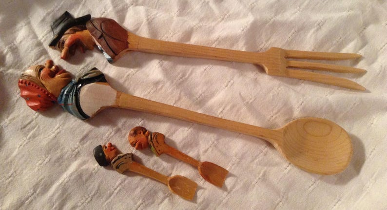 Italian Wooden Kitchen Spoons Decorative Utensils