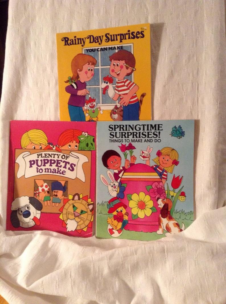 1981 Childrens Craft Activity Rainy Day Puppets Springtime Etsy