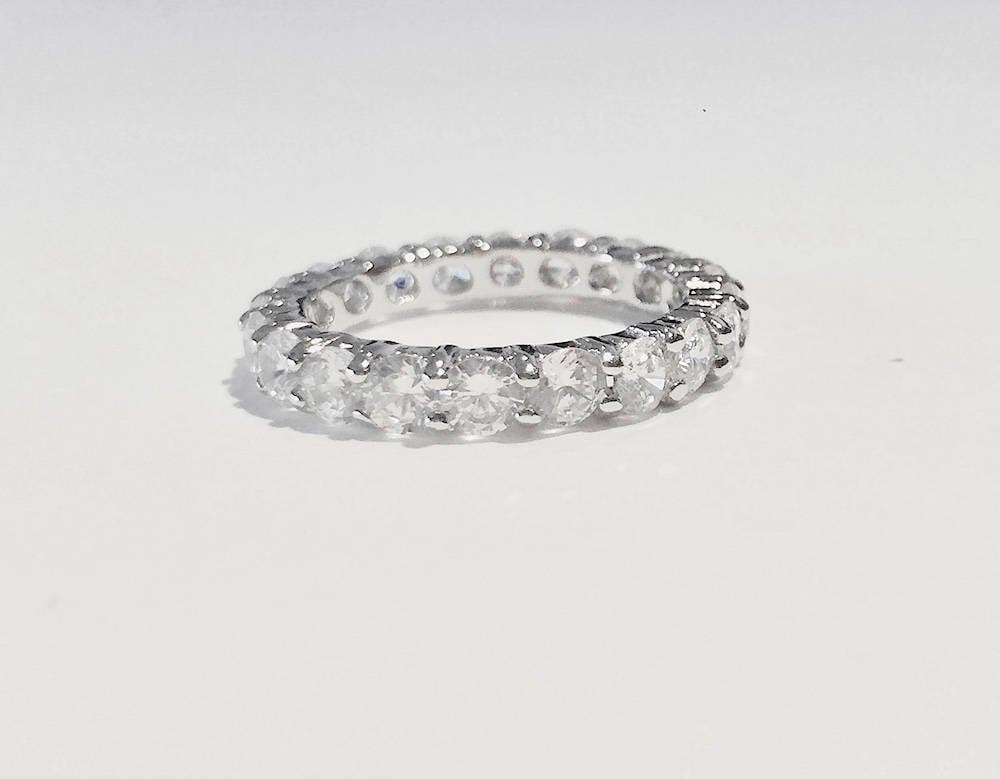 Gorgeous 5 6 Tcw 3 5 Mm Round Cut Cz Stackable Eternity Bridal