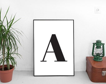 "Printable Poster [stampabile] ~ ""A"" Letter"