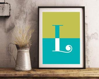 "Printable Poster [stampabile] ~ ""L"" Letter"