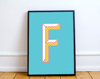 "Printable Poster [stampabile] ~ ""F"" Letter"