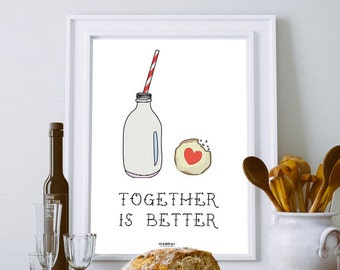 "Printable Poster [stampabile] ~ ""Together is better"""