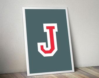 "Printable Poster [stampabile] ~ ""J"" Letter"