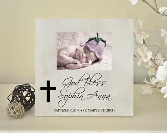 baptism frame etsy