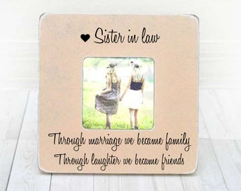 Sister In Law Frame Gift Bridesmaid Idea Birthday