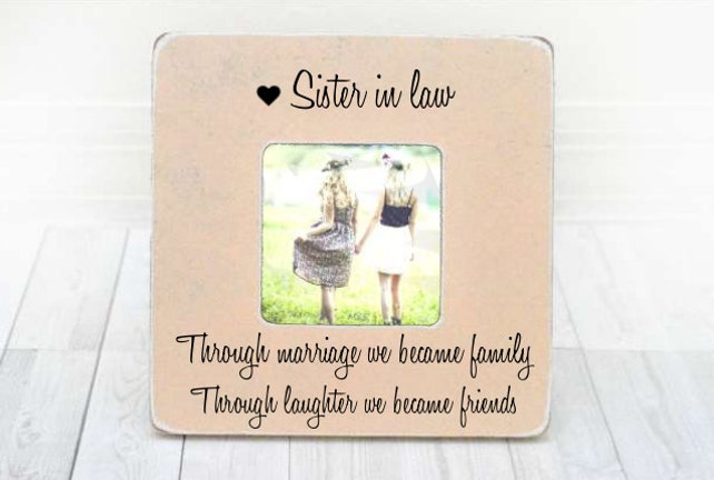 Sister In Law Frame Sister In Law Gift Bridesmaid Gift Bridesmaid
