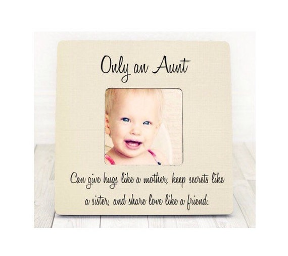 Mothers Day Gift Aunt Niece Gift Personalized Picture Frame Etsy