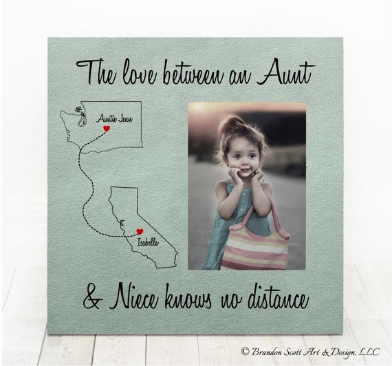 Long Distance Aunt Niece States Frame Niece Nephew Aunt Gift