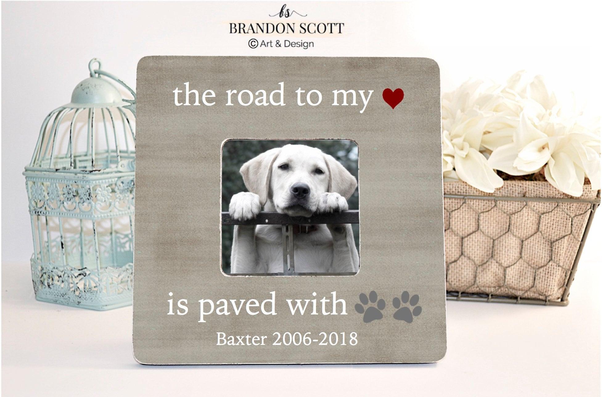 Pet Sympathy Gift Dog Death Frame Dog Memorial Gift Pet Etsy