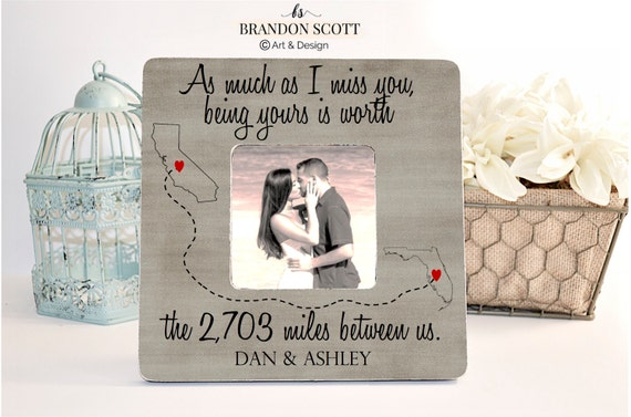 Valentines Day Gift Long Distance Frame Long Distance Etsy