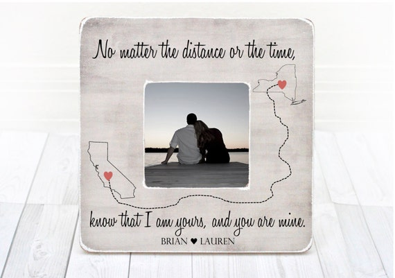 Long Distance Relationship Frame Gift For Boyfriend Girlfriend Etsy