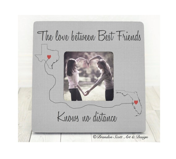 Best Friends Frame Long Distance Best Friends States Frame Etsy