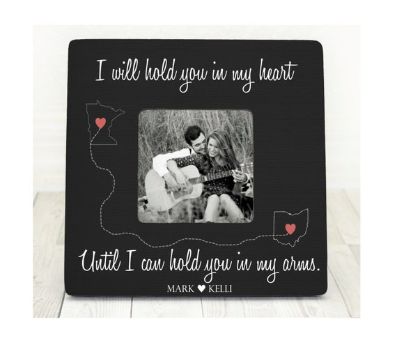 Long Distance Love Picture Frame Long Distance Relationship Etsy