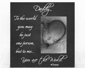 Fathers Day Gift from Daughter Son, Fathers day Frame, Personalized Picture Frame, Fathers Day Gift, Dad Frame, First Fathers Day Gift