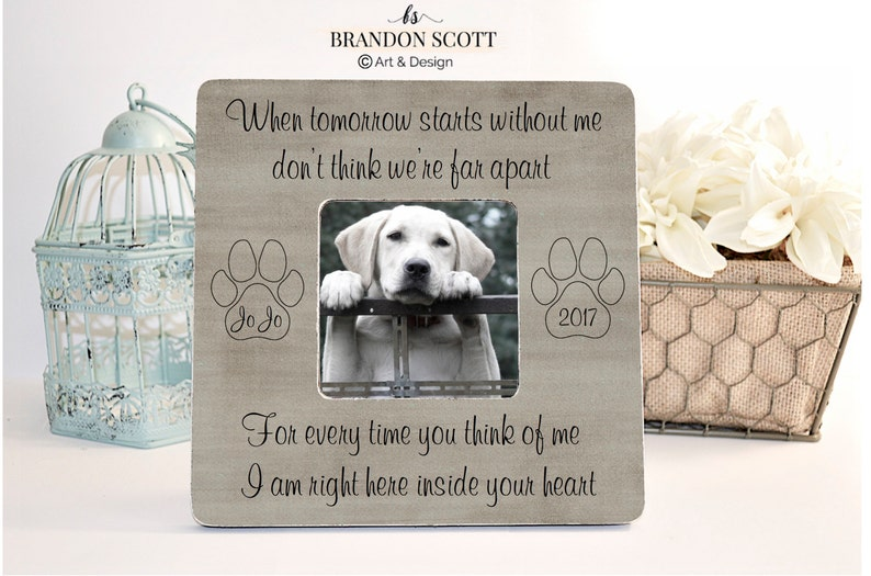 Pet Loss Pet Memorial Memorial Frame Pet Memorial Frame image 0