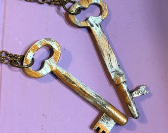 Altered Skeleton Key Necklace Authentic Upcycled Antique