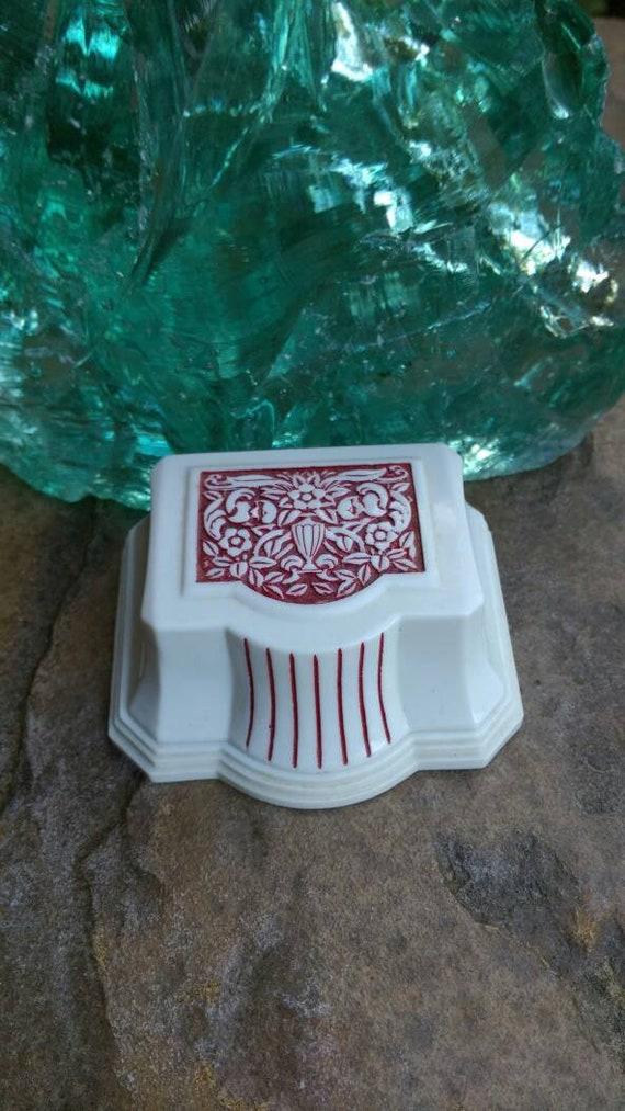 Antique ring box, art deco ring box, antique doubl