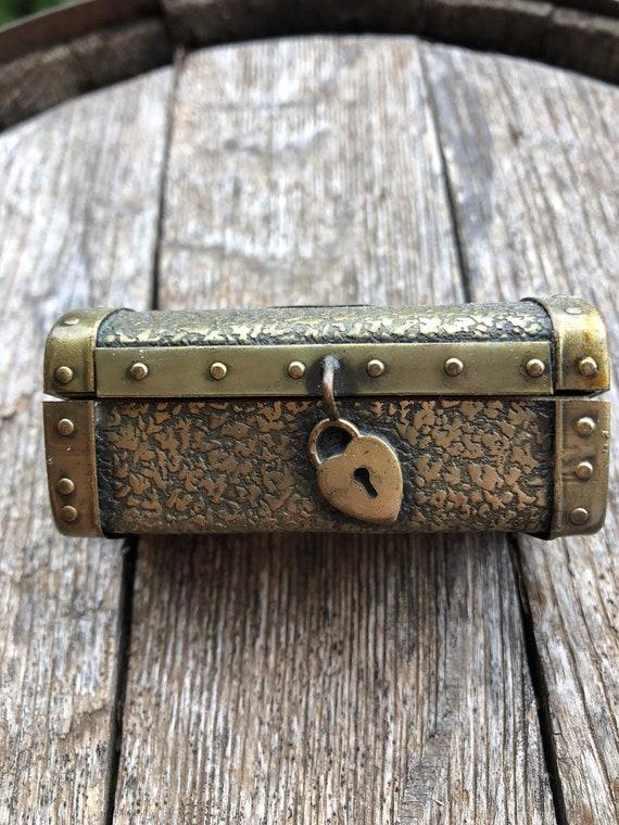 Antique ring box, unique ring box, treasure chest