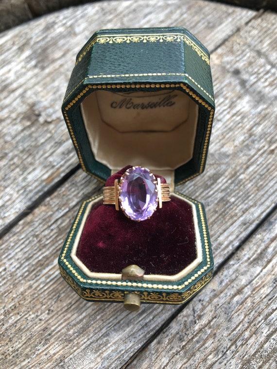 Antique Amethyst ring, Victorian amethyst ring, la